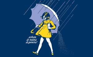 The Famous Morton Salt Girl