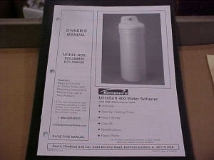 A Kenmore Water Softener Product Manual
