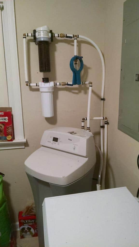 Whirlpool water softener hook up