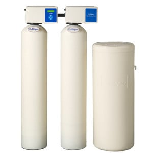 A Culligan High Efficiency Twin Tank And High Efficiency Progressive Flow Water Conditioner